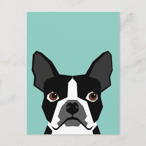 Boston Terrier Postcard