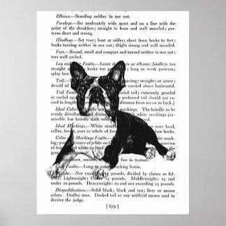 BOSTON TERRIER POSTER - PET DOGS