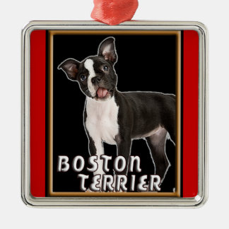 BOSTON TERRIER PREMIUM CHRISTMAS ORNAMENT