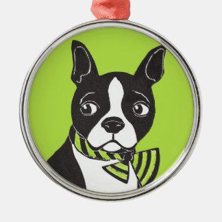 Boston Terrier Premium Round Ornament