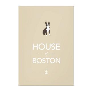 Boston Terrier printed canvas