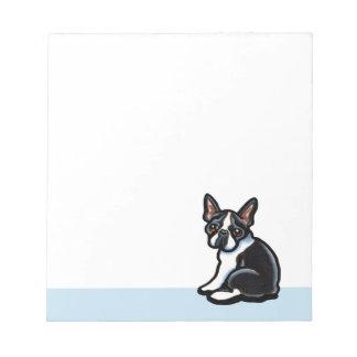Boston Terrier Profile Notepad