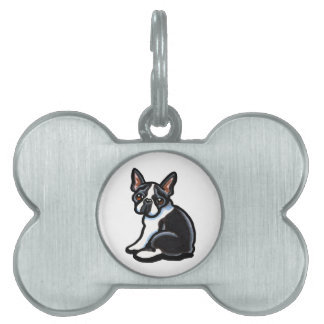 Boston Terrier Profile Pet ID Tag