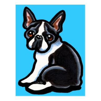 Boston Terrier Profile Postcard