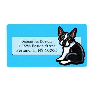 Boston Terrier Profile Studio Blue Label