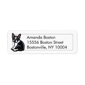 Boston Terrier Profile Studio Simple Label