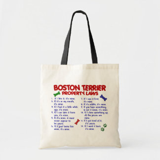 Boston Terrier Property Laws 2 Canvas Bags