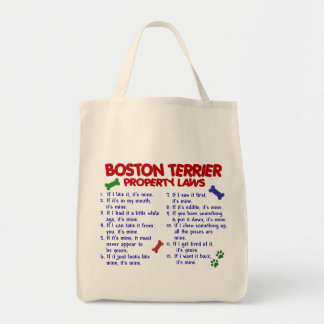 Boston Terrier Property Laws 2 Tote Bags