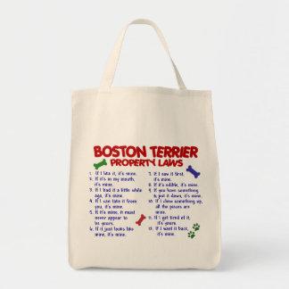 Boston Terrier Property Laws 2 Canvas Bag