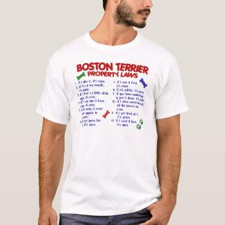 Boston Terrier Property Laws 2 T-Shirt