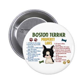 Boston Terrier Property Laws 4 Button