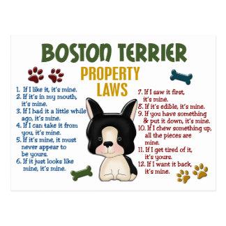 Boston Terrier Property Laws 4 Postcards