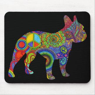 Boston Terrier Psychedelic Pattern Mousepad