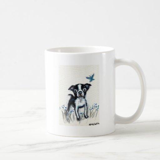 Boston Terrier pup butterfly Coffee Mug