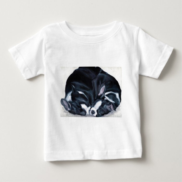 Boston Terrier Puppies Baby T-Shirt