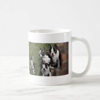 Boston Terrier Puppies Classic White Coffee Mug