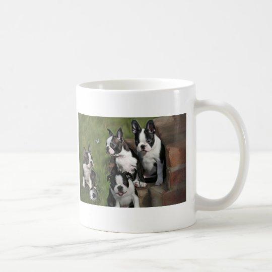 Boston Terrier Puppies Coffee Mug