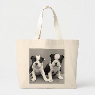 Boston Terrier Puppies tote bag