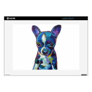 "Boston Terrier Puppy 15"" Laptop Skins"