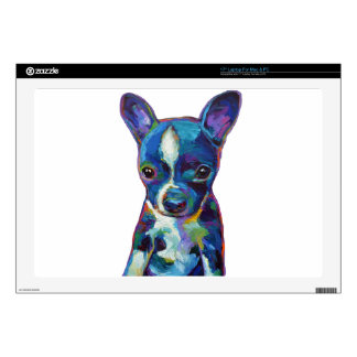 "Boston Terrier Puppy 17"" Laptop Skins"