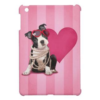 Boston Terrier Puppy and Heart iPad Mini Case