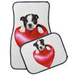 Boston Terrier puppy car mat set Floor Mat