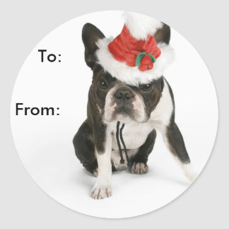 Boston Terrier Puppy Gift Tags