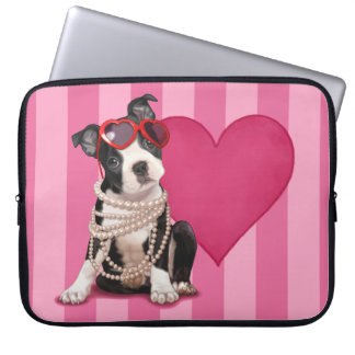 Boston Terrier Puppy Laptop Computer Sleeves