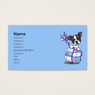 Boston Terrier Puppy Pet Business Cards