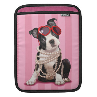 Boston Terrier Puppy Sleeve For iPads