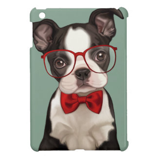 Boston Terrier Puppy with Specs iPad Mini Cases