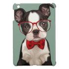 Boston Terrier Puppy with Specs iPad Mini Cover