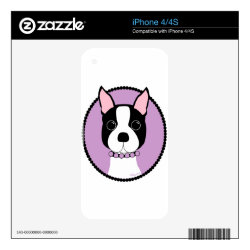 iPhone 4/4S Skin with Boston Terrier Phone Cases design