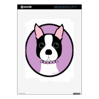 Boston Terrier Purple iPad 3 Decals