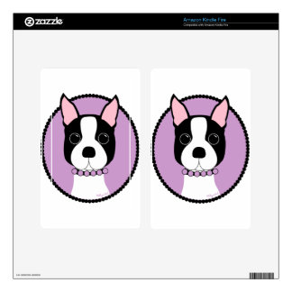 Boston Terrier Purple Kindle Fire Skins