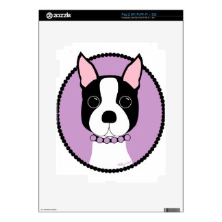 Boston Terrier Purple Skins For The iPad 2