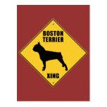 Boston Terrier que cruza la muestra (XING) Postales