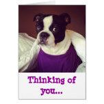 Boston Terrier-Que piensa en usted Tarjeta De Felicitación