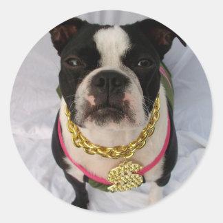 Boston Terrier Rapper Stickers