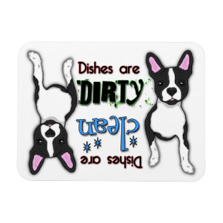 Boston Terrier Rectangle Dishwasher Magnet