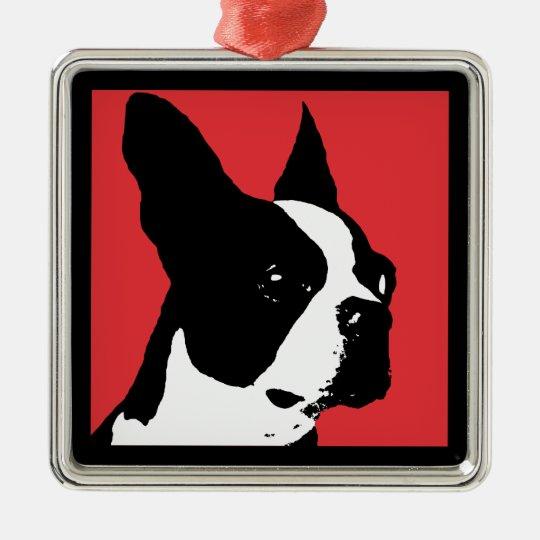 Boston Terrier Red Ornament