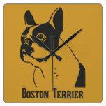 Boston Terrier Relojes De Pared