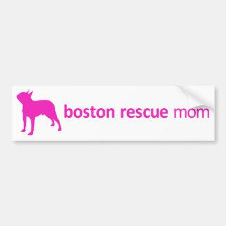 Boston Terrier Rescue Mom Bumper Sticker