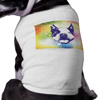 Boston Terrier - resplandor solar Camisas De Mascota
