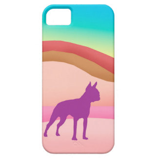 Boston Terrier Retro Hills iPhone 5 Cases