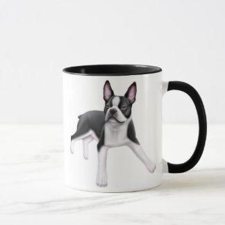 Boston Terrier Ringer Mug