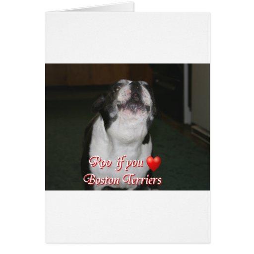 Boston Terrier:  Roo Greeting Card
