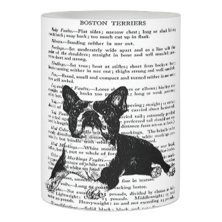 BOSTON TERRIER SAFE CANDLE-HOME DECOR SMALL FLAMELESS CANDLE