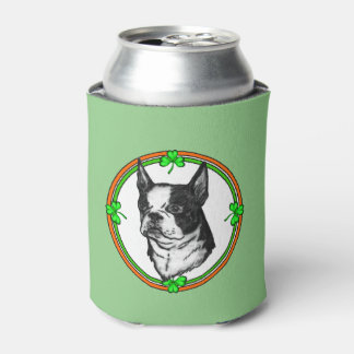 Boston Terrier Saint Patricks Day Can Cooler
