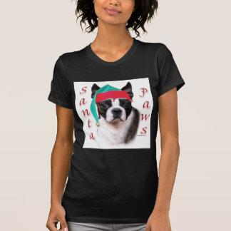 Boston Terrier Santa Paws Tees
